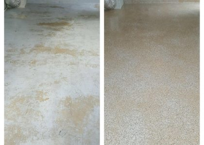 Garage Floor Before & After